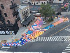 """Arkadiy Gershman on Twitter: """"Как быстро переделать дорогу в тротуар? В Нью-Йорке вот красят. Скоро выставят уличную мебель и готово. https://t.co/2WKSyxjXe0"""""""