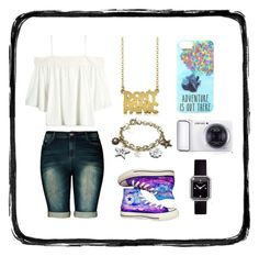 A day out by stray-arrow on Polyvore featuring polyvore, fashion, style, City Chic, Converse, Marc by Marc Jacobs, Matthew Williamson, Chanel, Disney, Samsung and clothing