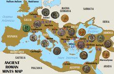Roman Map of Mints