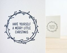 Have Yourself A Merry Little Christmas // Letterpress Card by Sarah Phelps Creative £3.00