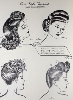 1940s Glamorous Hairstyles Styling Book WWII by RumbleSeatCat