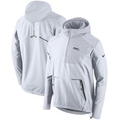 823786ad700 Nike Seattle Seahawks White Champ Drive Vapor Speed Fly Rush Flash Half-Zip  Pullover Jacket