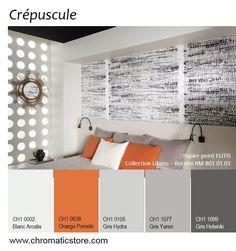 Cette association de teintes sera particulièrement mise en valeur dans une pièce baignée par la lumière du soleil couchant. www.chromaticstore.com #inspiration #deco #gris