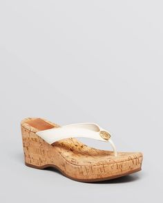 Tory Burch Platform Wedge Thong Sandals