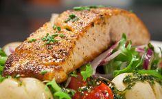 Salmone al forno con patate e pomodorini   Cambio cuoco