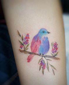 G.NO watercolor bird tattoo