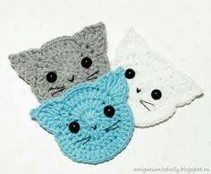 Mesmerizing Crochet an Amigurumi Rabbit Ideas. Lovely Crochet an Amigurumi Rabbit Ideas. Appliques Au Crochet, Crochet Motif, Crochet Flowers, Crochet Patterns, Knitting Patterns, Crochet Stitch, Free Knitting, Dress Patterns, Chat Crochet
