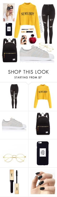 """Untitled #333"" by daniela95140 on Polyvore featuring Topshop, adidas, Herschel Supply Co., Anti Social Social Club and Incoco"
