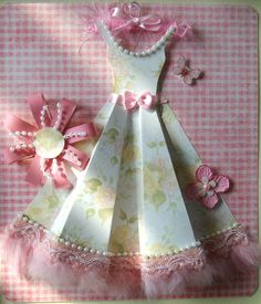 Pretty Paper Dress  How To and link for free template