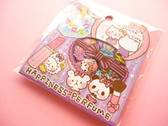 Kawaii Cute Sticker Flakes Sack Happiness Perfume Pool Cool (45237)