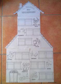 maestra Nella: il palazzo degli incarichi. Bellissima idea anche per le prime classi della scuola primaria. Grazie maestra!!