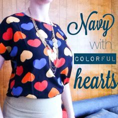 "☀️DRESSY Navy top with colored dots! Shirt is a soft, silky polyester fabric. Single layer, cute top would look great tucked into dress slacks or with jeans for a more casual look.  Measurements laying flat below: Small: Bust - 19"" / Length - 23"" Medium: Bust - 19.5"" / Length - 23.5"" Large: Bust - 21"" / Length - 24"" Extra Large: Bust - 21.5"" / Length - 24.5""  Fit: A tad small, see measurements.  Material: Polyester  Condition: NWOT Tops"