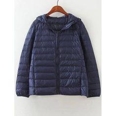 Zip Up Hooded Short Down Coat