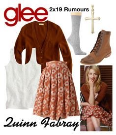 """Quinn Fabray (Glee) : 2x19"" by aure26 ❤ liked on Polyvore featuring Hue and glee"