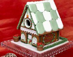 gingerbread house Christmas Gingerbread House, Gingerbread Houses, Gingerbread Cookies, Cookie House, Ginger Bread, 3d Shapes, Homes, Spring, Board