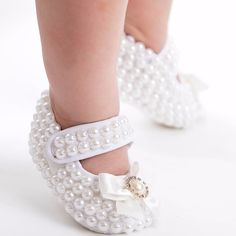 Itty Bitty Pearly Slippers - Itty Bitty Toes  - 1