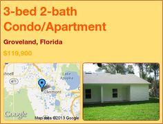 3-bed 2-bath Condo/Apartment in Groveland, Florida ►$119,900 #PropertyForSale #RealEstate #Florida http://florida-magic.com/properties/8037-condo-apartment-for-sale-in-groveland-florida-with-3-bedroom-2-bathroom