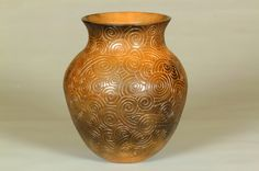 Crazy wind. Cherokee coil built pottery.