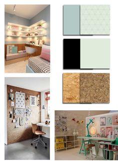 moodboard les 2 van #vtwonenbacktoschool voor mijn creatieve werkplek Creative Studio, Loft, Bed, Furniture, Ideas, Home Decor, Decoration Home, Stream Bed, Room Decor
