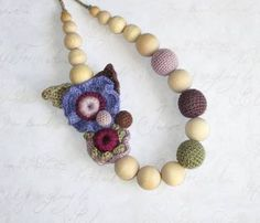 Nursing necklace crochet wood beads Eco Friendly Eco Friendly Breastfeeding Necklace Teething necklace Fashion accessories for moms and lesson for a Nursing Necklace, Teething Necklace, Diy Jewelry, Jewelery, Unique Jewelry, Breastfeeding Necklace, Fashion Necklace, Crochet Necklace, Fashion Accessories