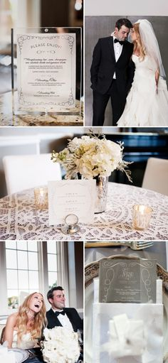 This is the wedding that inspired me and that I'm stealing the most from; the thing I don't like about their tables is that the flowers are irregular looking and that soft grey plant I don't know how I feel about