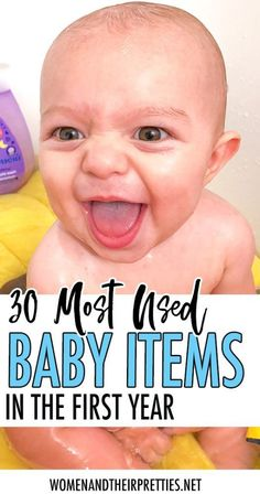 Everyone tells you what you need for your baby but they don't tell you what they actually used OFTEN. Here's my most used baby items in the first year! via items 30 Most Used Baby Items in the First Year Baby Must Haves, Babies First Year, First Baby, New Parents, New Moms, Used Baby Items, Nouveaux Parents, Breastfeeding Accessories, Baby Skin Care