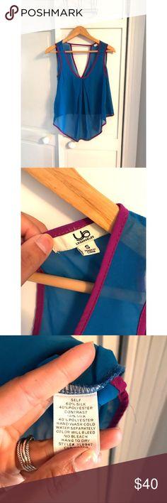 Royal blue blouse with purple hem Royal blue blouse with purple hem Cloud 9 Tops Blouses