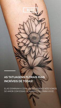 Feather Tattoo Design, Floral Tattoo Design, Henna Tattoo Designs, Sunflower Tattoo Shoulder, Sunflower Tattoos, Sunflower Tattoo Design, Forarm Tattoos, Body Art Tattoos, Small Tattoos