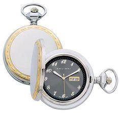 Colibri PWQ096841S Milan Two Tone Black Dial Pocket Watch Day Date with Chain PWQ096841S Colibri. $34.95. Quartz Movement. Day Date. Two Tone Case. Pocket Watch Chain Included. Colibri of London