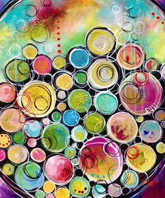 Simply gorgeous painted circles!