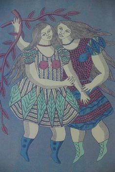 'Winter' : coloured screenprint : Barbara Hanrahan