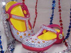Light Up Girls Sandals Just like CROCS by MilitaryMoxieShoes, $22.50