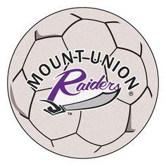 Mount Union Raiders NCAA Soccer Ball Round Floor Mat (29)