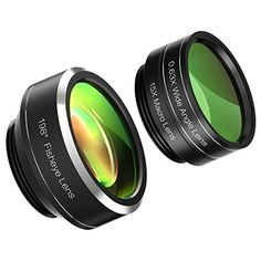 Mozeat Lens 3-in-1 Clip-on Cell Phone Camera Lens, Fisheye Lens ,150 Degree Wide Angle Lens, 15X Macro Lens for iPhone, Samsung Android Smartphones