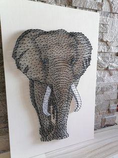 String Wall Art, 3d Wall Art, Tree Wall Art, Wall Art Decor, String Art Templates, String Art Patterns, Art Floral, Africa Art, Feather Art