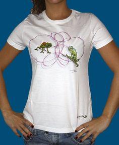 Champalao camiseta camaleones.  Modelo mujer.