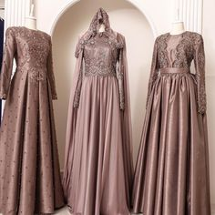 New Ideas Style Fashion Party Haute Couture Muslimah Wedding Dress, Muslim Wedding Dresses, Muslim Dress, Bridal Dresses, Dresses Dresses, Dance Dresses, Islamic Fashion, Muslim Fashion, Modest Fashion