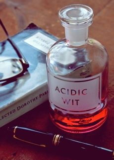 acidic wit apothecary bottle