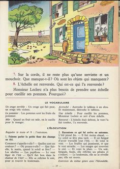 Manuels anciens: Tranchart, Levert, Rognoni, Bien lire et comprendre Cours élémentaire (1963) : grandes images French Learning Books, Teaching French, English Story Books, French Grammar, French Phrases, French Lessons, Lus, Learn French, Storytelling