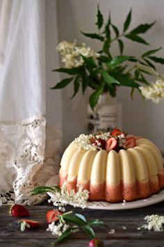 Strawberry and Vanilla Flan Cake