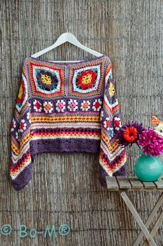 Crochet Poncho - Crochet Inspiration - No Pattern - (bo-m.blogspot)