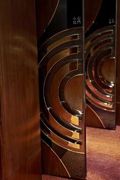 Ballroom Walnut Door with metal & brass by InterContinental Hong Kong, via Flickr