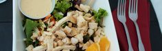 Chinese Chicken Salad from FitnessRidge.com - a healthy recipe loved by the guests at this weight loss resort