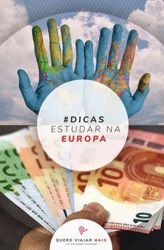Estudar na Europa: dicas para estudar fora ou trabalhar durante um intercâmbio na Europa. Como fazer faculdade com passaporte brasileiro e conseguir visto. Eurotrip, Traveling, Europe