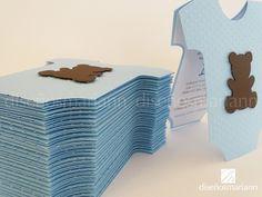 Invitación Baby Shower niño con temática de osito. #InvitacionesBabyShower