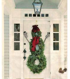 Wreath snowman - adorable!!!