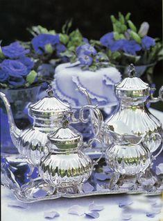 SILVER TEA POT 5 O Clock Tea, Silver Tea Set, Tea Quotes, Cream Tea, Tea Service, Coffee Service, Cloth Flowers, Tea Art, Silver Work