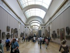 One of many gorgeous hallways in the Louvre