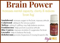 This blend of oils helps increase the amount of oxygen to the receptors near in the brain.