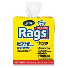 """Kimberly-Clark Rags In A Box, w/ Handle, 10""""x13"""", 200 Towels/BX, White SKU-PAS933710 by Kimberly Clark. $34.01. Allof theproductsshowcased throughoutare100%OriginalBrand Names.. 100% SATISFACTION GUARANTEED. Please refer to the title for the exact description of the item. Kimberly-Clark Rags In A Box, w/ Handle, 10""""x13"""", 200 Towels/BX, WhiteScott Rags in a Box are ideal for painting, wiping up spills, staining, and refinishing furniture. Soft, absorbent towels p..."""